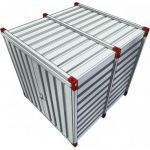 Kovobel opslagcontainer 2,25mtr dubbele deuren korte zijde 021361 - JSK Handelsonderneming