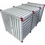 Materiaalcontainer 4mtr dubbele deuren korte zijde 019171