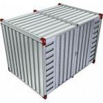 Opslagcontainer dubbele deuren lange zijde - 3 meter