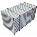 Opslagcontainer dubbele deuren lange zijde - 4mtr 023630
