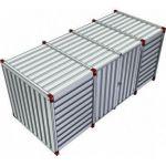 Materiaalcontainer dubbele deuren lange zijde - 5mtr 023640