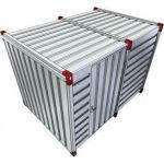 Materiaalcontainer enkele deur lange zijde - 3 meter