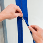 Maak snel een doorgang in elke stofwand | Zelfklevende rits (2 stuks) | PrimaCover Zipper - JSK Handelsonderneming
