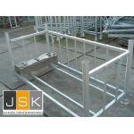 Baakvoetenrek / baakvoeten opslagbunker / baakvoetenpallet gegalvaniseerd - JSK Handelsonderneming