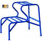Stucadoorstrap | Stucadoorsbank | 2 treden hoogte 51 cm | Blauw gepoedercoat - JSK Handelsonderneming