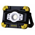 Vetec Accu-bouwlamp LED 10W 500 / 1000 Lumen Oplaadbaar USB kabel | 55.106.11 - JSK Handelsonderneming