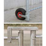 Bouwhekwiel met luchtband + bouwhekscharnier als set geleverd - JSK Handelsonderneming