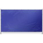 Blauw bouwhekzeil 176x341cm 150gr/m² | Rondom op 50cm voorzoen van een aluminium bevestigingsoog ø12mm. - JSK Handelsonderneming