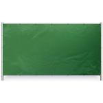 Groen bouwhekzeil 176x341cm 150gr/m² | Rondom op 50cm voorzoen van een aluminium bevestigingsoog ø12mm. - JSK Handelsonderneming
