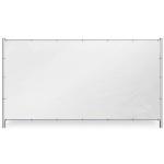 Wit bouwhekzeil 176x341cm 150gr/m² | Rondom op 50cm voorzoen van een aluminium bevestigingsoog ø12mm. - JSK Handelsonderneming