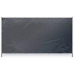 Zwart bouwhekzeil 176x341cm 150gr/m² | Rondom op 50cm voorzoen van een aluminium bevestigingsoog ø12mm. - JSK Handelsonderneming