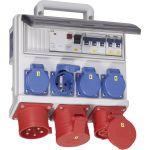 PCE CEE stroomverdeler Horn 32A 9004012 400V 32A in | 1x 16A 5p 400V | 1x 32A 5p 400V | 4x randaarde-contactdoos 230V | Fabrikantnummer: 9004012 - JSK Handelsonderneming