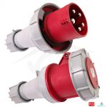 CEE-stekker 63A 5-polig 400V Power Twist IP67 PCE 035-6| PCE CEE 63A 400V 5p Plug Male Red IP67 of in combinatie met Female 63A - JSK Handelsonderneming