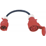 CEE 32A verloop stroom adapter 380V - 400V IP44 | 1139 | Veiligheidsnorm IP44 spatwaterdicht | Europees kwaliteits product met 2 jaar garantie 325165 - JSK Handelsonderneming
