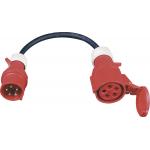 325165   CEE- Adapter 32A Stecker auf 16A Kupplung Peitsche 400V 5-polig Starkstrom IP44 spatwaterdicht   Europees kwaliteits product met 2 jaar garantie - JSK Handelsonderneming