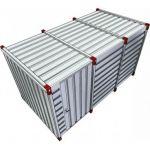 Materiaalcontainer enkele deur lange zijde - 4mtr 023670