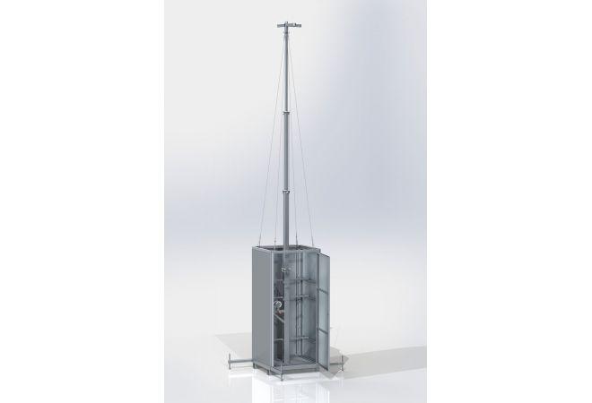 Mobiele bouwplaats bewakingskast uitschuifbaar 2.20 - 6.00 meter MSB6-Basic - JSK Handelsonderneming