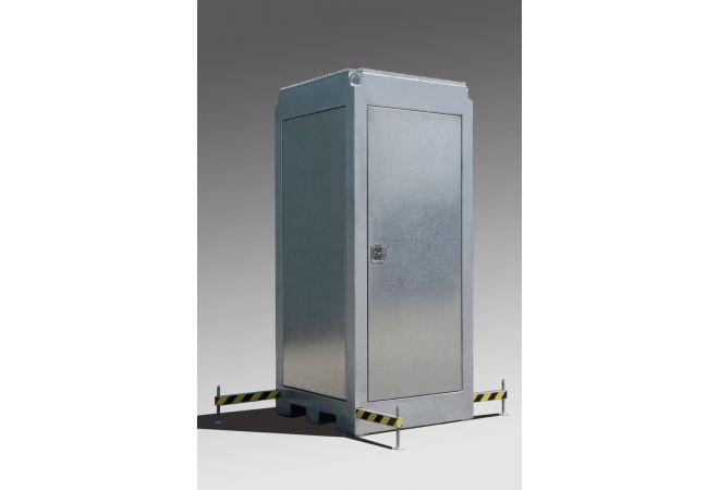 Mobiele bouwplaats bewakingskast uitschuifbaar 2.20 - 6.00 meter   MSB6-Premium - JSK Handelsonderneming